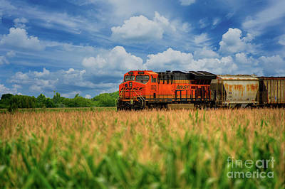 Photograph - Freight Train by Kelly Wade