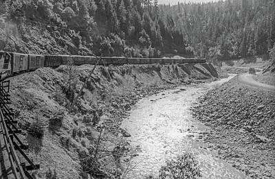 Photograph - Freight Train Through Cow Creek Canyon, Oregon by Frank DiMarco