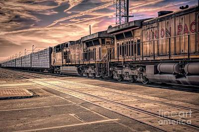 Photograph - Freight Train Through Town by Joe Lach