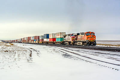 Railroads Photograph - Freight Train by Todd Klassy