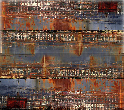 Photograph - Freighter Abstract 11 by Mary Bedy