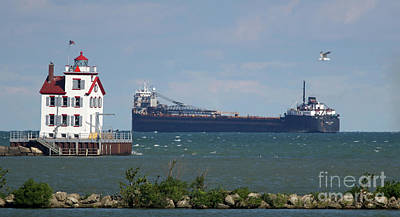 Photograph - Freighter In The Harbor by Debbie Parker