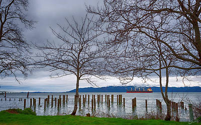Freighter On The Columbia Art Print