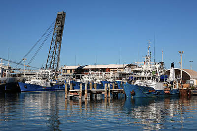 Photograph - Fremantle-fishing Boats  by Tony Brown