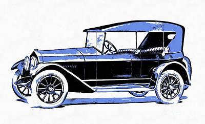 Digital Art - Fremont Car 1919 by Edward Fielding