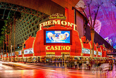 The Strip Photograph - Fremont Casino by Az Jackson