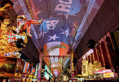 Photograph - Fremont Street Experience by Jennifer White