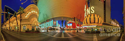 Photograph - Fremont Street Experience Panorama 3 To 1 Aspect Ratio by Aloha Art