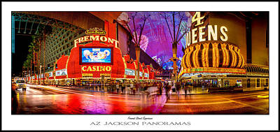 Traffic Sign Photograph - Fremont Street Experience Poster Print by Az Jackson