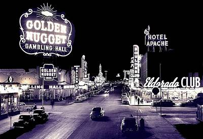 Amy Hamilton Animal Collage - Fremont Street Las Vegas Nevada 1950 by David Lee Guss