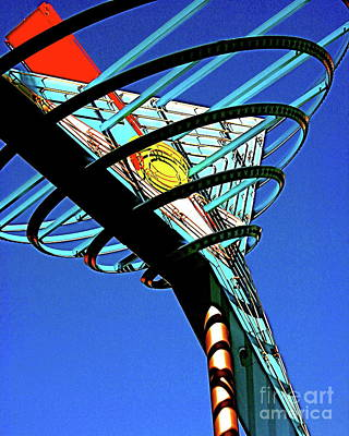 Photograph - Fremont Street Neon Martini Sculpture Las Vegas Neon Lights Fine Art Photograph Color Neon Landscape by Tim Hovde