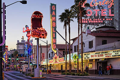 Photograph - Fremont Street Neon Signs by Tatiana Travelways