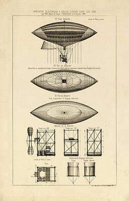 Drawing - French Aeronautics by Vintage Pix