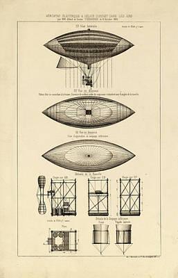 Drawing - French Aeronautics by Vintage Pix