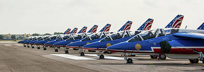 Photograph - French Air Force Aerobatics Team by John Black