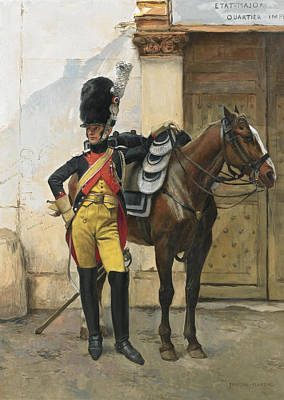 French An Elite Soldier Of The Imperial Guard Art Print