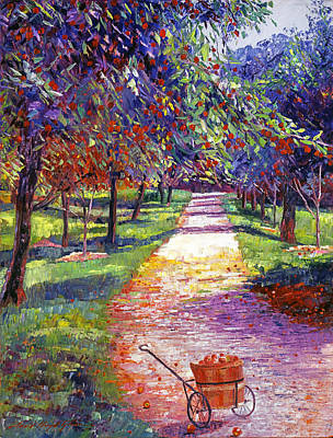Apple Orchards Painting - French Apple Orchards by David Lloyd Glover