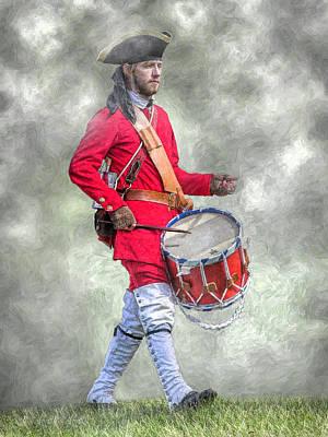 Drummer Digital Art - French Army Drummer Fort Ligonier Portrait  by Randy Steele