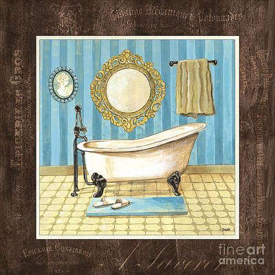 Tile Painting - French Bath 1 by Debbie DeWitt