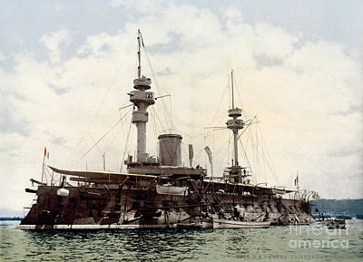 Painting - French Battleship Formidable by Celestial Images