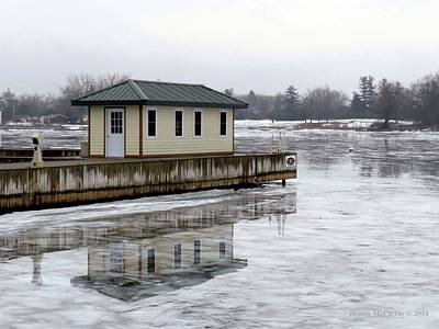 Photograph - French Bay Ice by Dennis McCarthy
