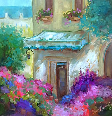 Bistro Painting - French Bistro by Nancy Medina