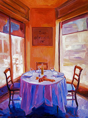 Painting - French Bistro Table by David Lloyd Glover