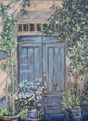 Painting - French Blue Door by Candi Hogan