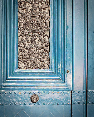 Photograph - French Blue - Paris Door by Melanie Alexandra Price