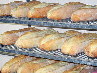 Photograph - French Bread On Shelves At Old Bakery by Jim and Emily Bush