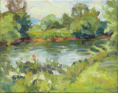 Asheville Painting - French Broad River Afternoon by Lisa Blackshear
