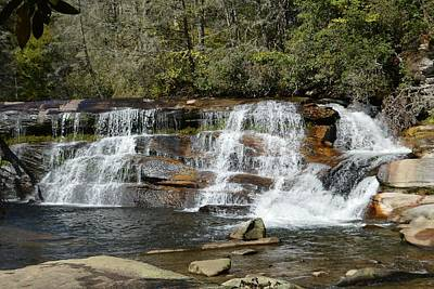 Photograph - French Broad River Falls - Living Waters Nc by rd Erickson