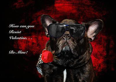 French Bull Dog Photograph - French Bull Dog Valentine by Joni Eskridge