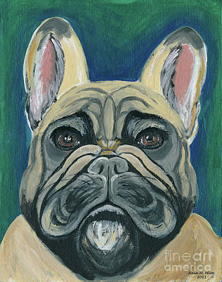 Painting - French Bulldog by Ania M Milo