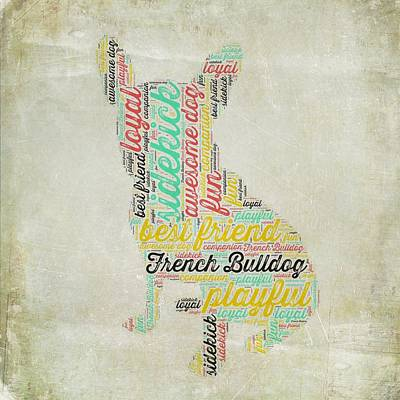 Puppy Love Mixed Media - French Bulldog by Brandi Fitzgerald