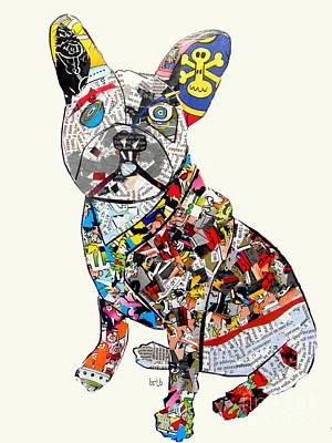 Dog Art Painting - French Bulldog by Bleu Bri