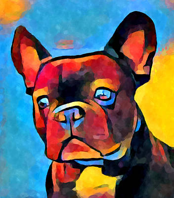 French Bull Dog Wall Art - Painting - French Bulldog by Chris Butler