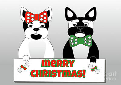 Digital Art - French Bulldog Christmas Wishes by Beverley Brown
