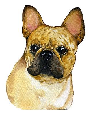 French Bulldog Gifts Painting - French Bulldog, Frenchie by Kathleen Sepulveda