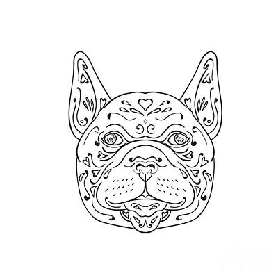 French Bulldog Head Mandala Art Print
