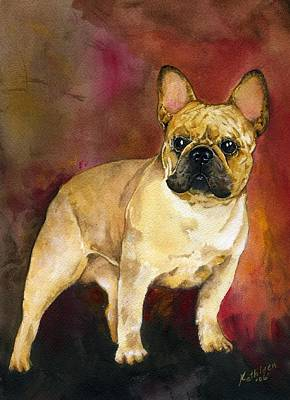 Dog Art Painting - French Bulldog by Kathleen Sepulveda