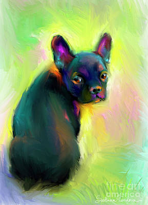 Svetlana Novikova Art Painting - French Bulldog Painting 4 by Svetlana Novikova