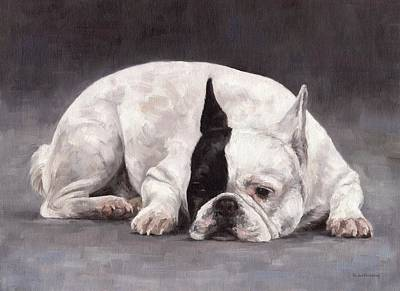 Painting - French Bulldog Painting by Rachel Stribbling