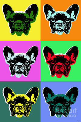 French Bulldog Digital Art - French Bulldog Pop Art Style by Jean luc Comperat