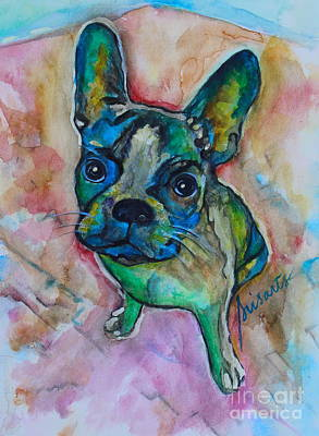 Painting - French Bulldog by Pristine Cartera Turkus