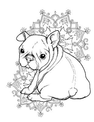 French Bulldog Puppy Art Print by Cindy Elsharouni