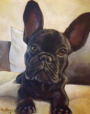 Painting - French Bulldog Puppy by FayBecca Designs