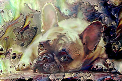 Digital Art - French Bulldog Puppy by Peggy Collins