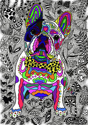 Drawing - French Bulldog by ZileArt