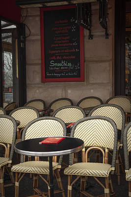 French Signs Photograph - French Cafe by Andrew Soundarajan